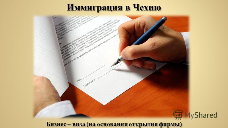 Бизнес – виза (на основании открытия фирмы)