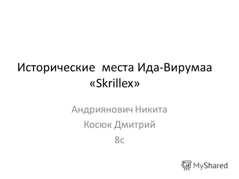 Исторические места Ида-Вирумаа «Skrillex» Андриянович Никита Косюк Дмитрий 8с