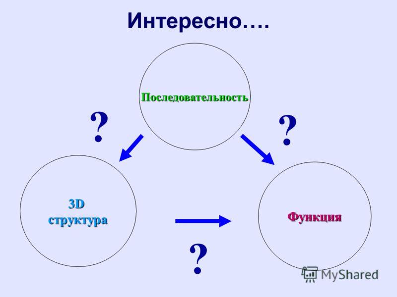 Интересно….Последовательность Функция 3Dструктура ? ? ?