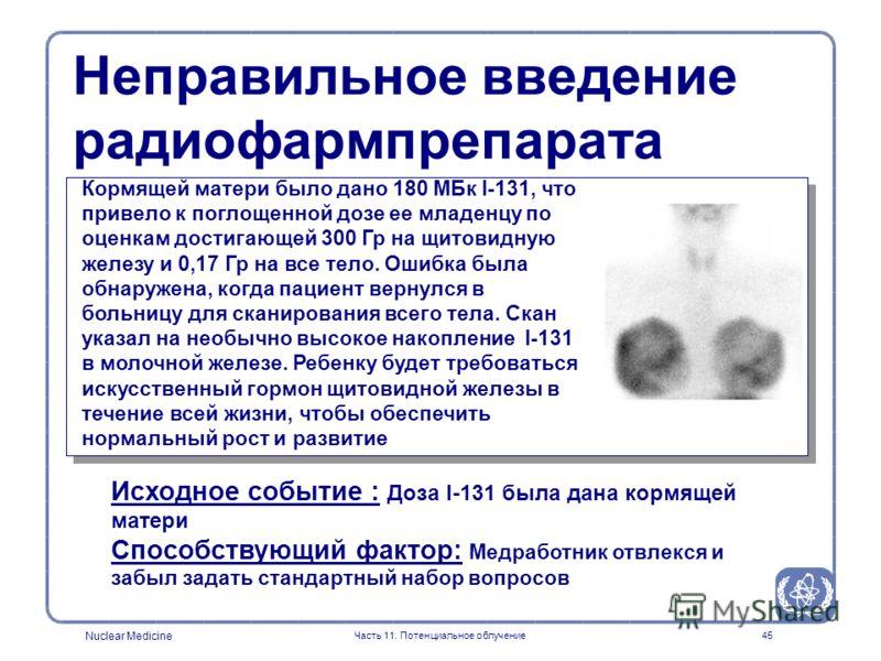 Nuclear Medicine Часть 11. Потенциальное облучение44 ЕСЛИ ВЫ ДУМАЕТЕ, ЧТО МОЖЕТЕ БЫТЬ БЕРЕМЕННЫ, ПРОИНФОРМИРУЙТЕ ПЕРСОНАЛ ДО ЛЕЧЕНИЯ