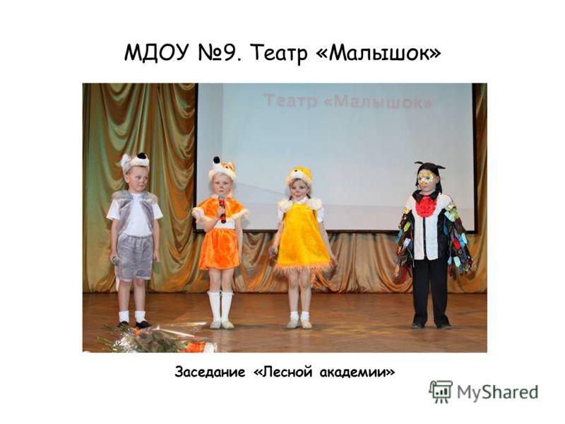 МДОУ 9. Театр «Малышок» Заседание «Лесной академии»