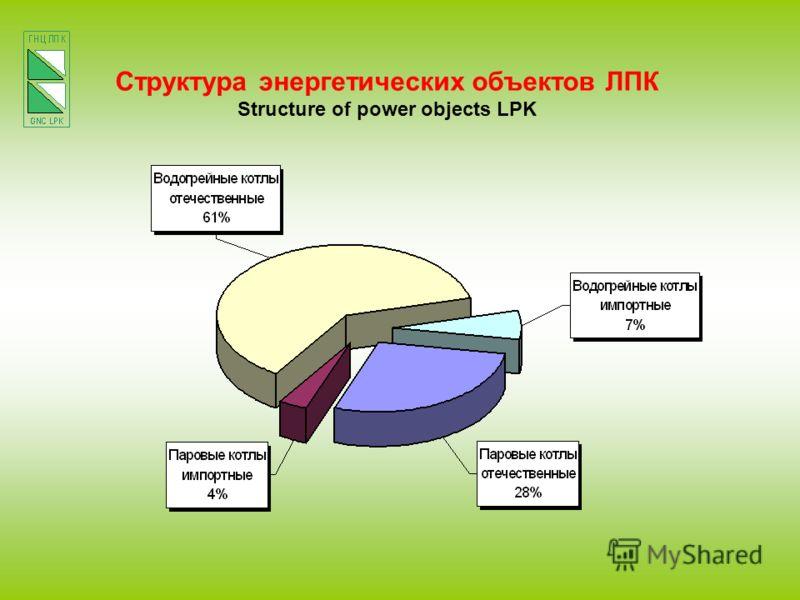 Структура энергетических объектов ЛПК Structure of power objects LPK