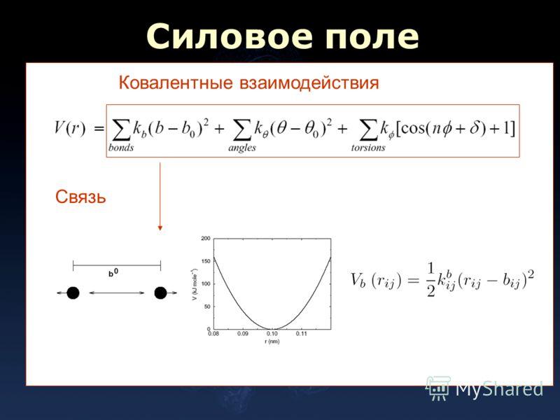 Силовое поле Ковалентные взаимодействия Связь