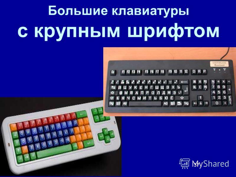 37 Большие клавиатуры с крупным шрифтом