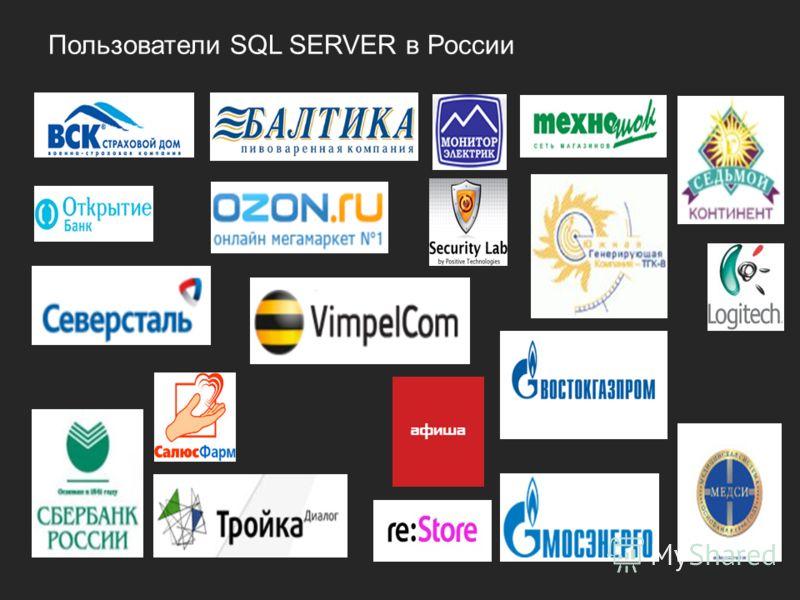Пользователи SQL SERVER в России