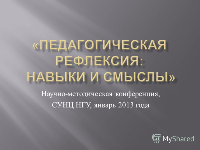 Научно - методическая конференция, СУНЦ НГУ, январь 2013 года