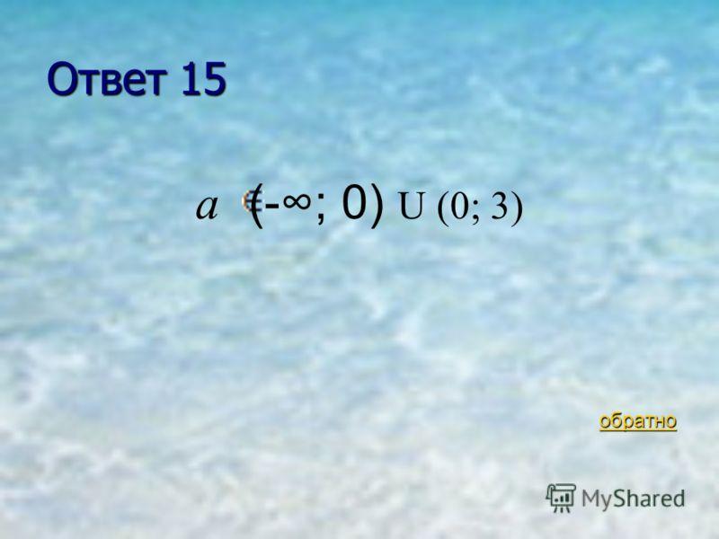В-4 15 очков При каких значениях а уравнение При каких значениях а уравнение ах 2 +6х+3=0 имеет два различных корня? ах 2 +6х+3=0 имеет два различных корня? ответ