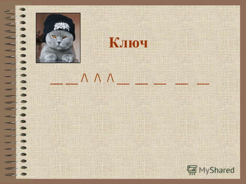 Ключ __ __ /\ /\ /\ __ __ __ __ __