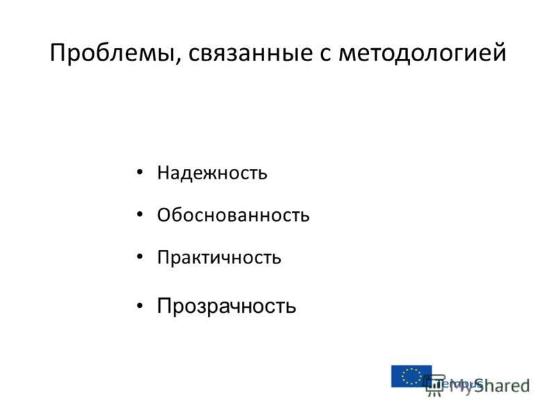 Проблемы, связанные с методологией Надежность Обоснованность Практичность Прозрачность