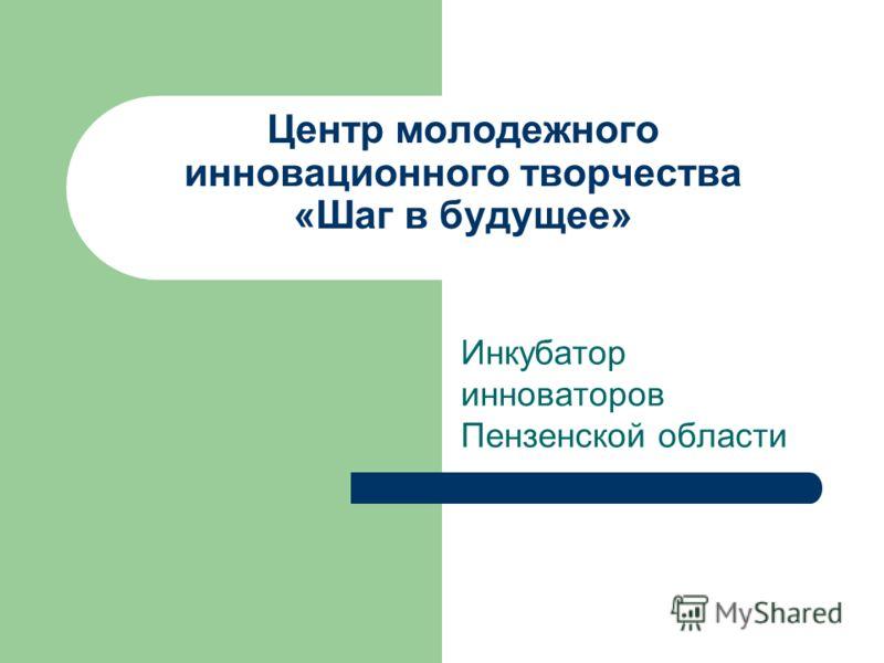 Центр молодежного инновационного творчества «Шаг в будущее» Инкубатор инноваторов Пензенской области