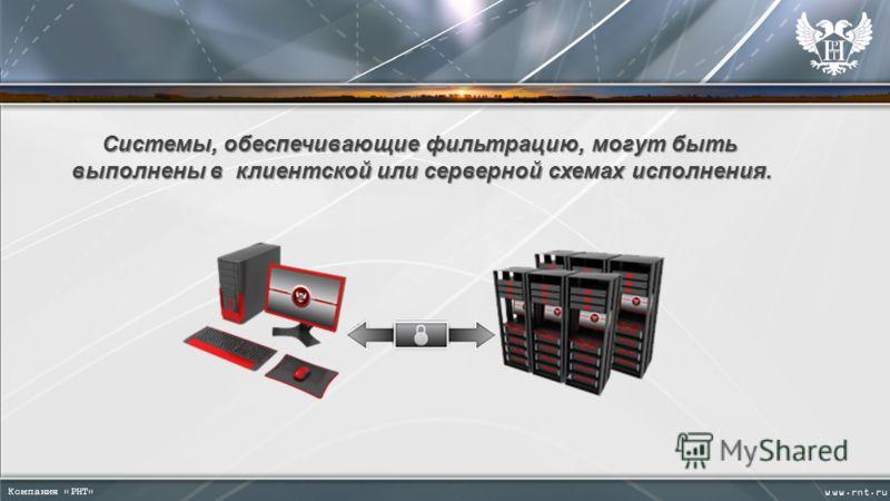 Системы, обеспечивающие фильтрацию, могут быть Системы, обеспечивающие фильтрацию, могут быть выполнены в клиентской или серверной схемах исполнения. выполнены в клиентской или серверной схемах исполнения.
