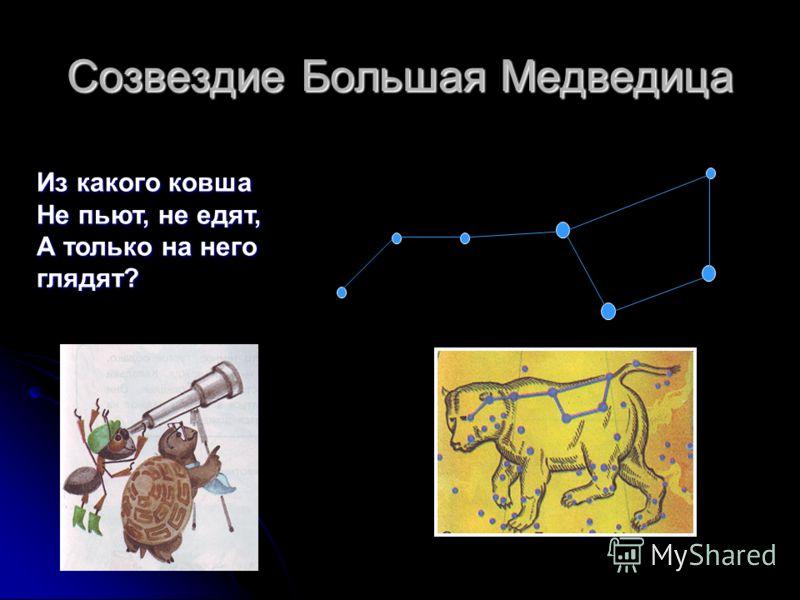 Созвездие Большая Медведица Из какого ковша Не пьют, не едят, А только на него глядят?