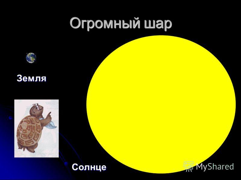 Огромный шар Земля Солнце