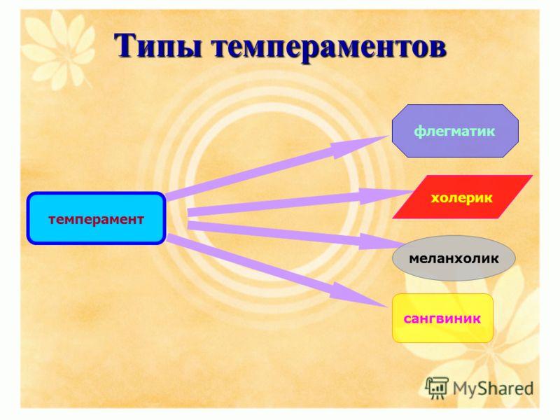 Типы темпераментов темперамент флегматик меланхолик холерик сангвиник
