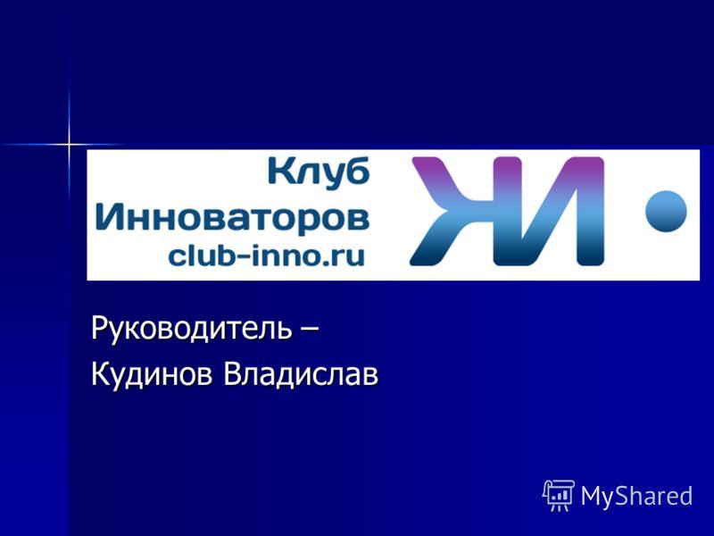 Руководитель – Кудинов Владислав