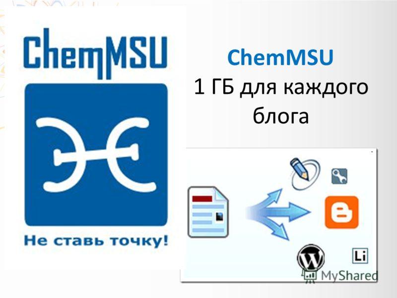 ChemMSU 1 ГБ для каждого блога