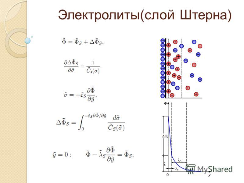 Электролиты(слой Штерна)