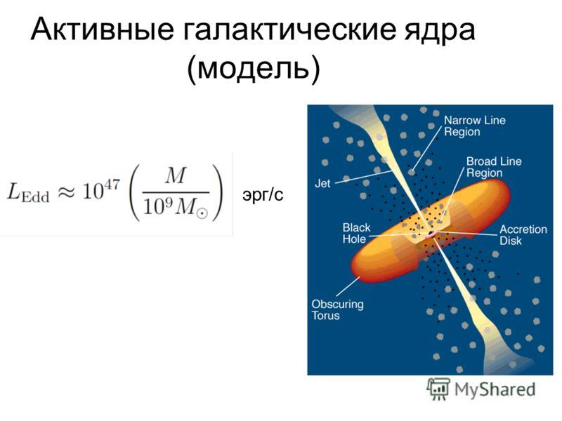 Активные галактические ядра (модель) эрг/с