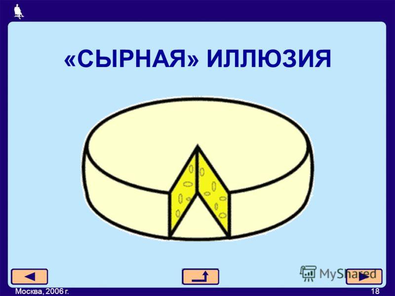 «СЫРНАЯ» ИЛЛЮЗИЯ Москва, 2006 г.18