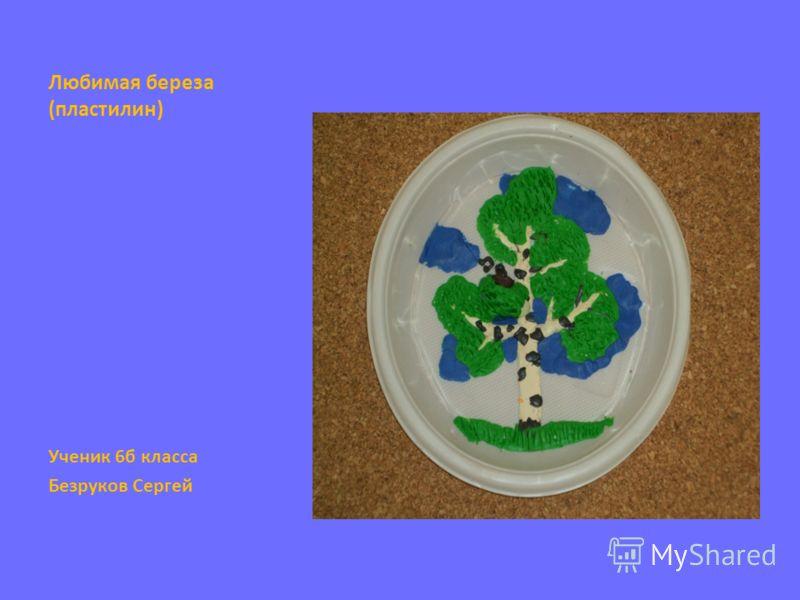 Любимая береза (пластилин) Ученик 6б класса Безруков Сергей