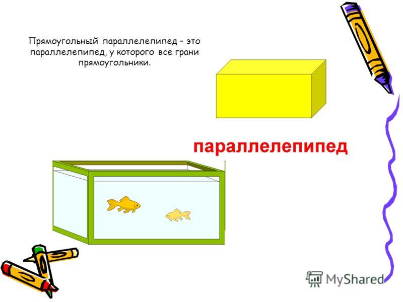 Принёс нам ящик почтальон - Посылка мне и брату. Ящик - КУБ, в нём шесть сторон, Все стороны - квадраты. А что лежит в посылке? Там стружки и опилки, Конфеты и баранки, Ещё с вареньем банки. Куб – правильный многогранник, каждая грань которого предст