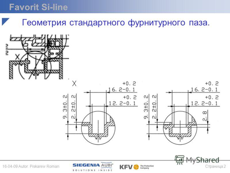 Favorit Si-line 16-04-09 Autor: Piskarew RomanСтраница 2 Геометрия стандартного фурнитурного паза.