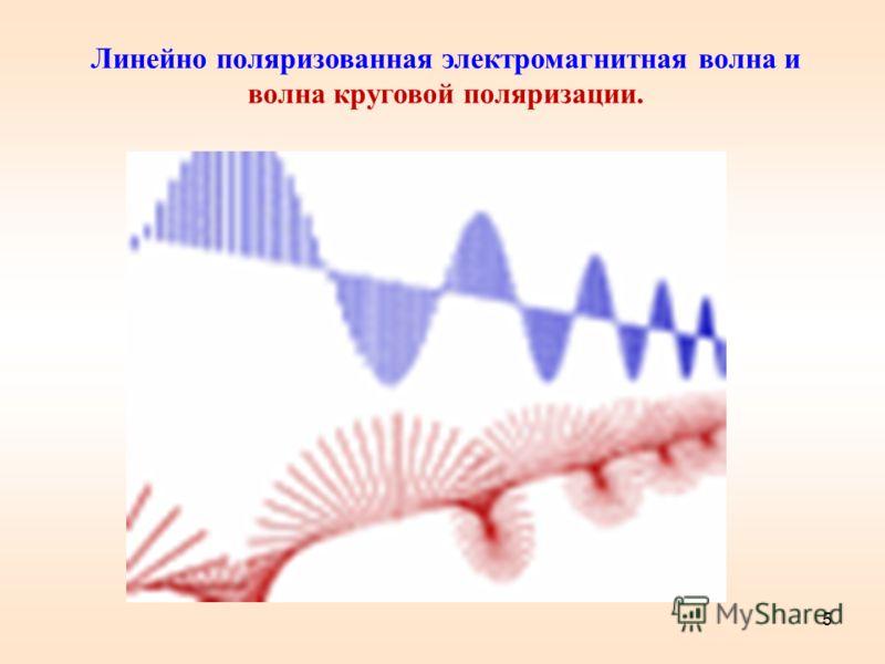5 Линейно поляризованная электромагнитная волна и волна круговой поляризации.