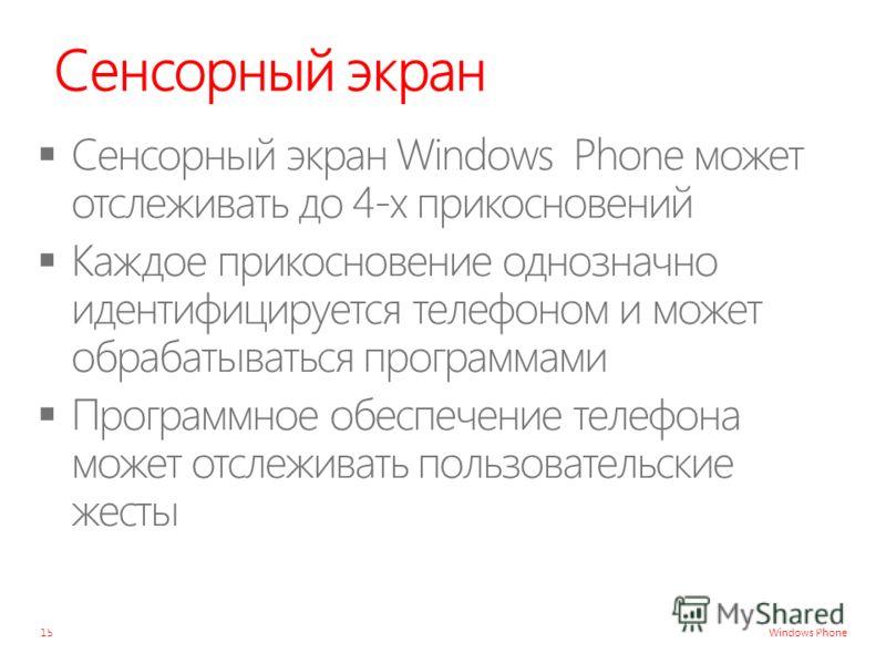 Windows Phone Сенсорный экран 15