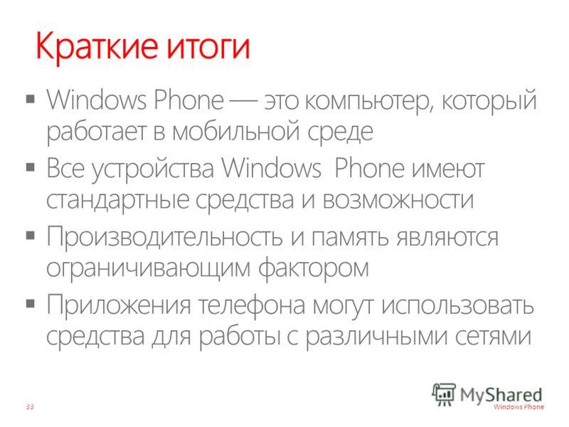 Windows Phone Краткие итоги 33