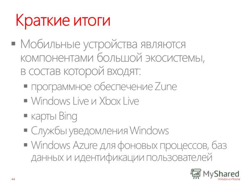 Windows Phone Краткие итоги 44