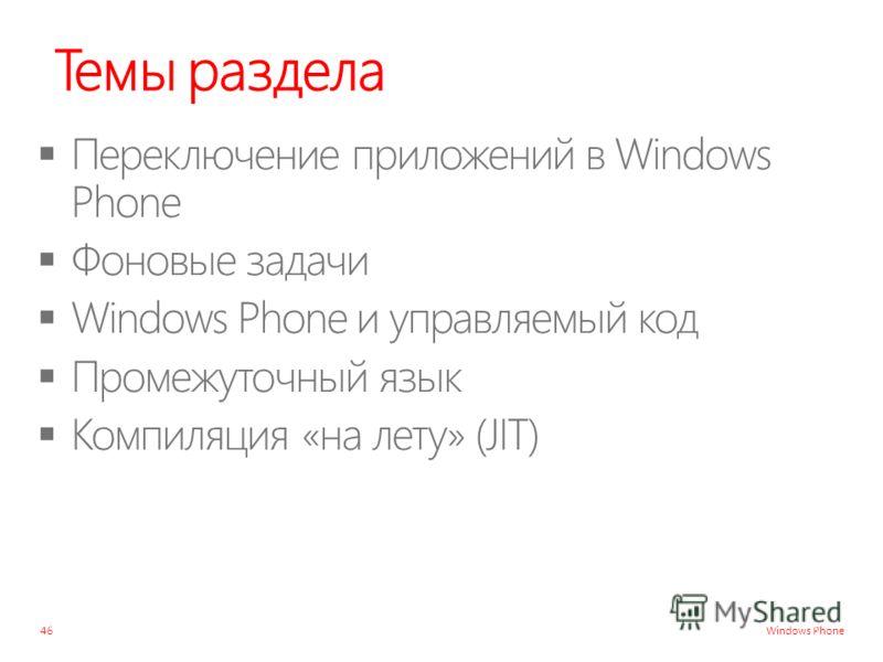 Windows Phone Темы раздела 46