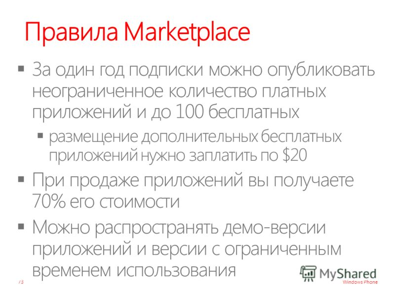 Windows Phone Правила Marketplace 73