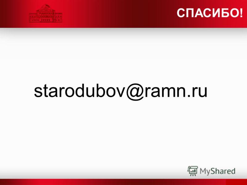 starodubov@ramn.ru СПАСИБО!