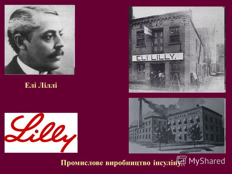Елі Ліллі Промислове виробництво інсуліну