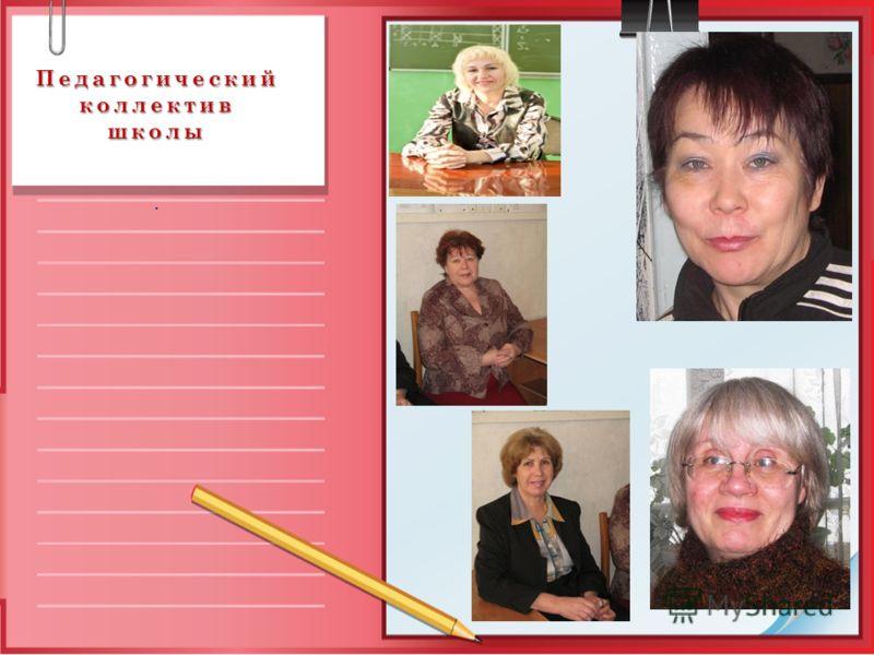 Педагогический коллектив школы.