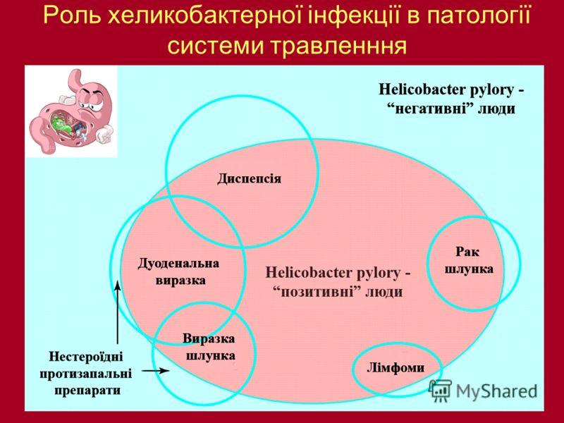 Роль хеликобактерної інфекції в патології системи травленння
