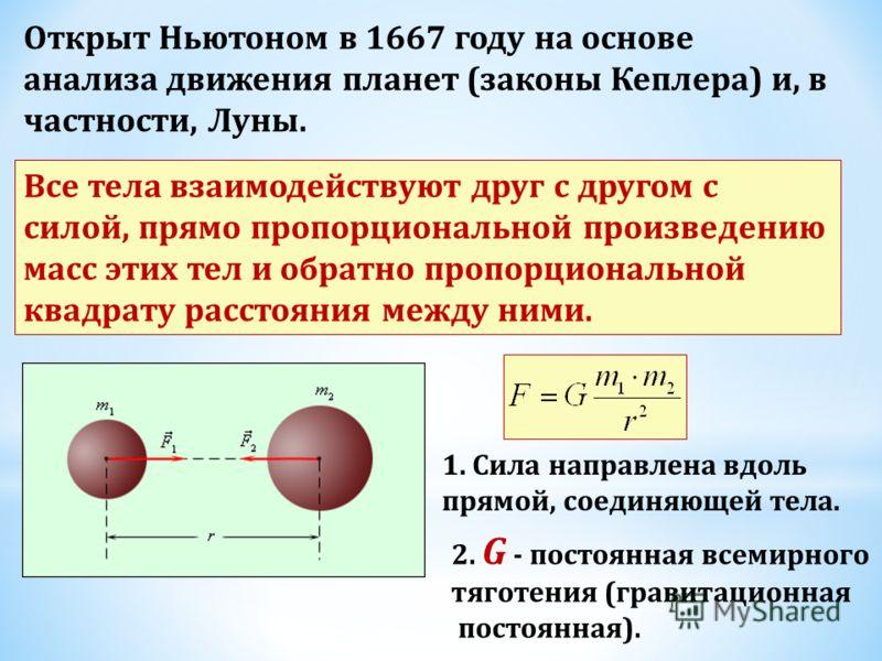 5. Закон всемирного тяготения.
