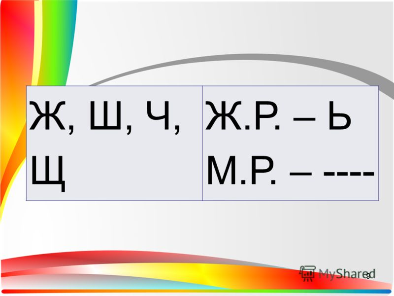 ш щ пишется с мягким знаком