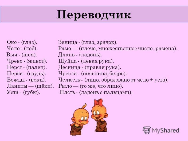 Переводчик Око - (глаз). Зеница - (глаз ...: www.myshared.ru/slide/283017