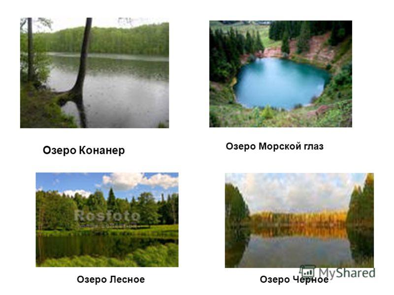 Озеро Конанер Озеро Морской глаз Озеро ЛесноеОзеро Черное
