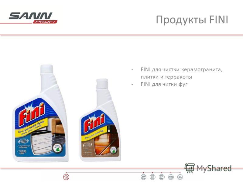 Продукты FINI FINI для чистки керамогранита, плитки и терракоты FINI для читки фуг