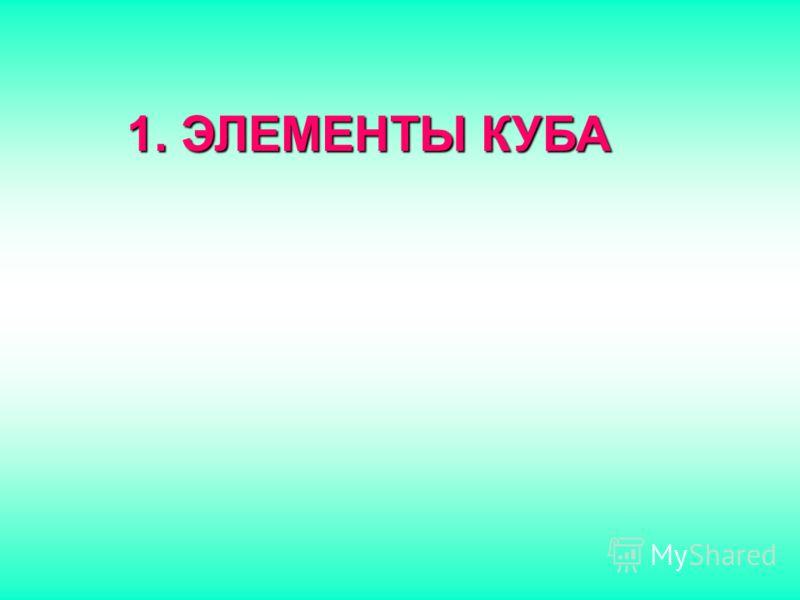 1. Э ЛЕМЕНТЫ КУБА