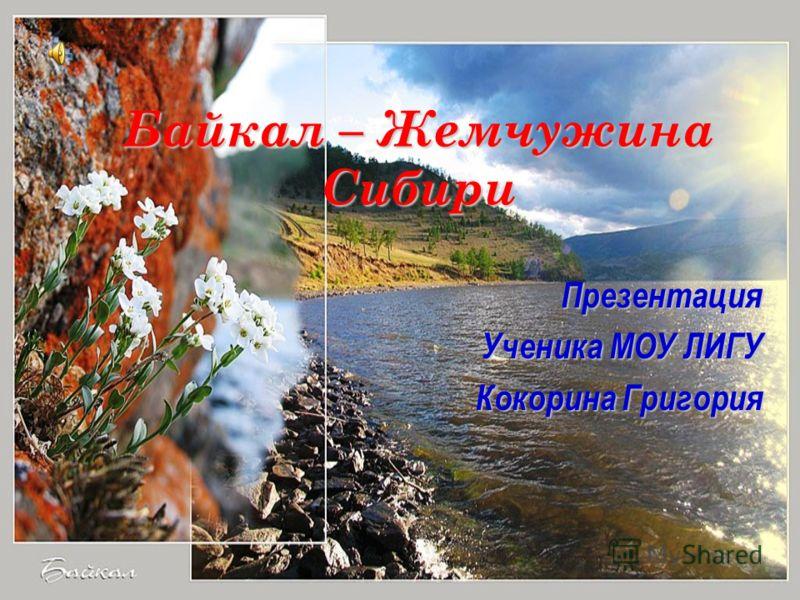 Байкал – Жемчужина Сибири Презентация Ученика МОУ ЛИГУ Кокорина Григория