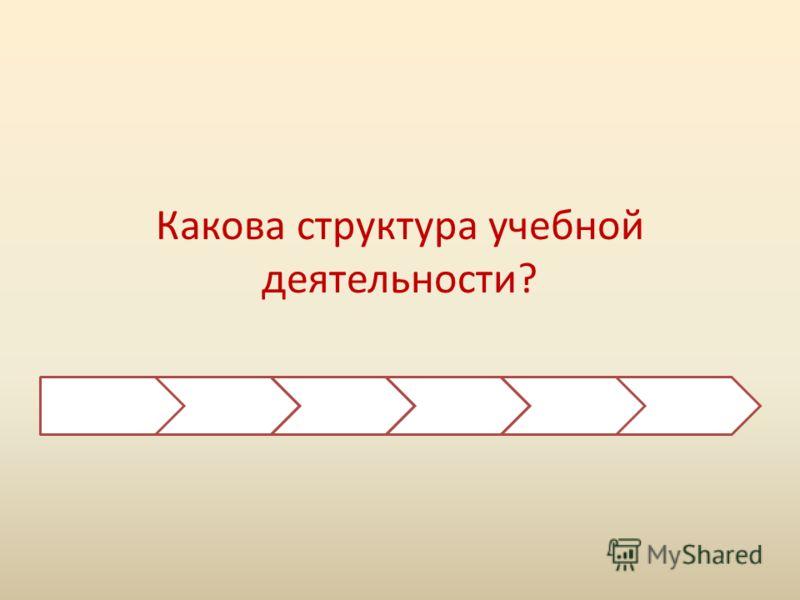 Какова структура учебной деятельности?