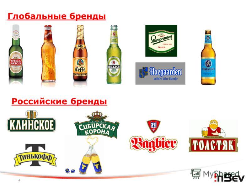 4 Глобальные бренды Российские бренды