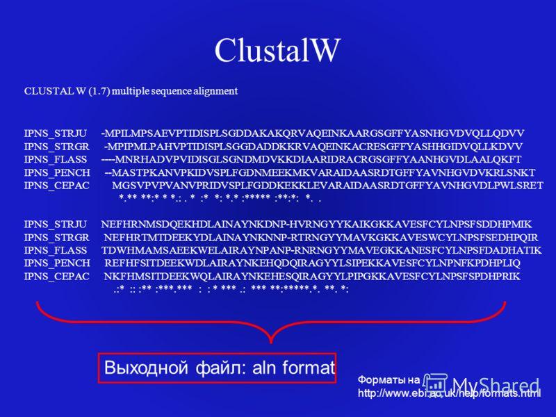 ClustalW CLUSTAL W (1.7) multiple sequence alignment IPNS_STRJU -MPILMPSAEVPTIDISPLSGDDAKAKQRVAQEINKAARGSGFFYASNHGVDVQLLQDVV IPNS_STRGR -MPIPMLPAHVPTIDISPLSGGDADDKKRVAQEINKACRESGFFYASHHGIDVQLLKDVV IPNS_FLASS ----MNRHADVPVIDISGLSGNDMDVKKDIAARIDRACRGSG