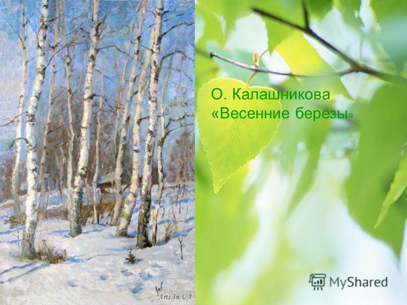 О. Калашникова «Весенние березы »