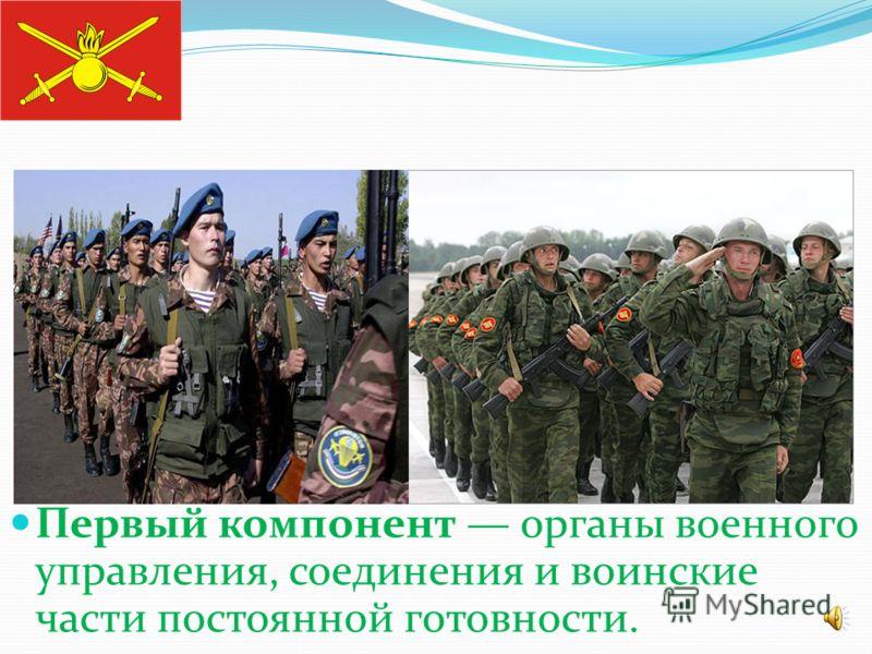 С учетом предназначения решаемых задач Сухопутные войска приведены к трехкомпонентной структуре.