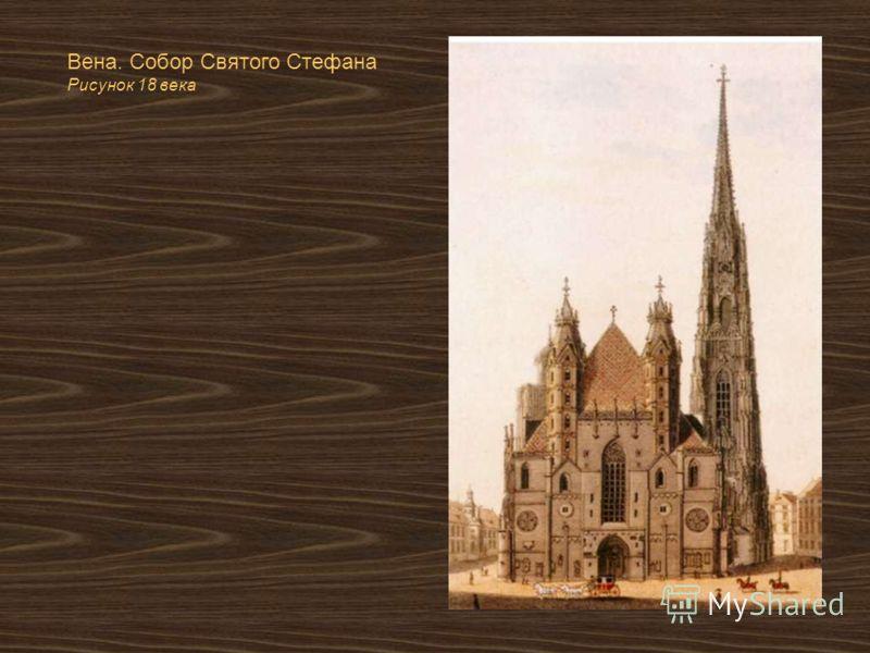 Вена. Собор Святого Стефана Рисунок 18 века