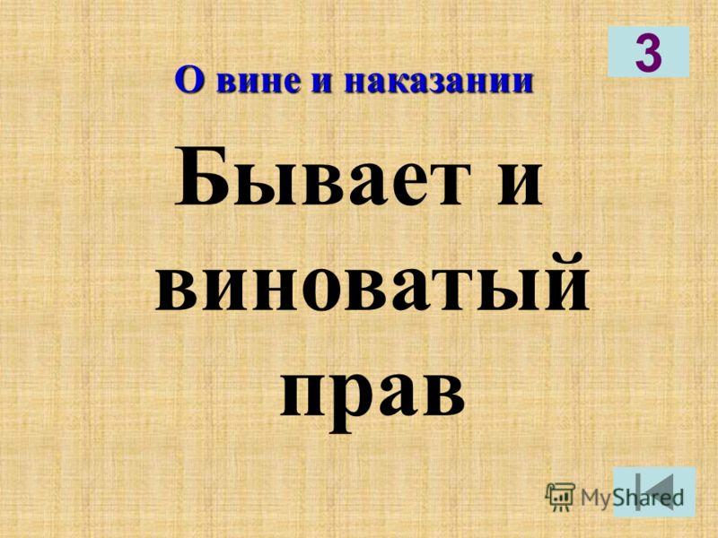 О вине и наказании Бывает и виноватый прав 3